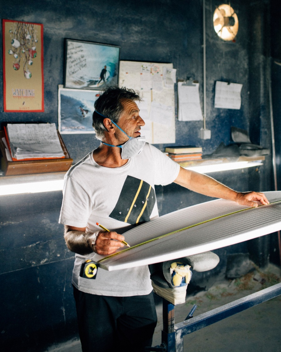 Nick Uricchio, 57, surfboard shaper since 1979